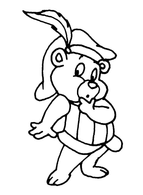 Gummy Bear Coloring Page for Kids
