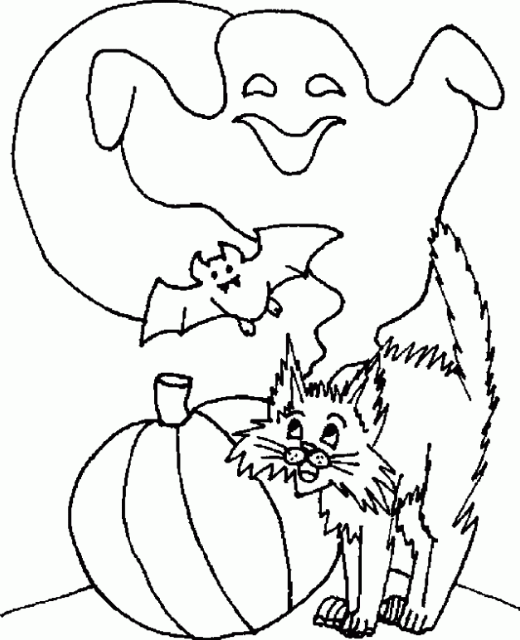 Halloween Coloring Pages Printable For Kids