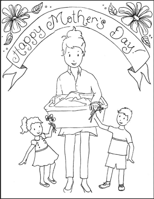Mothers Day Coloring Sheets To Print
