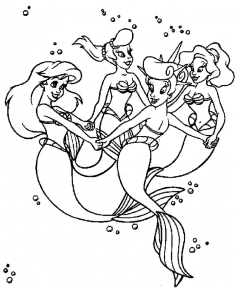 Ariel Coloring Pages And Friends
