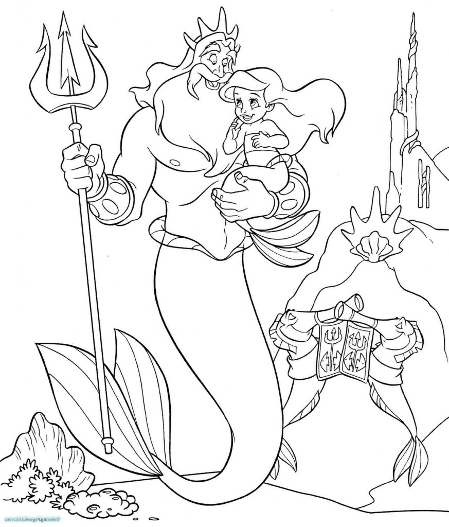 Ariel Coloring Pages Mermaid