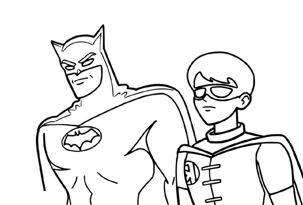 Batman Coloring Pages And Robin