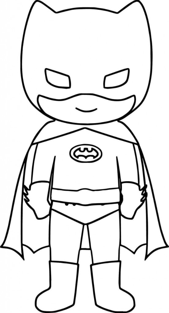 Batman Coloring Pages Cute