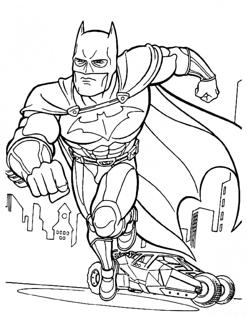 Batman Coloring Pages For Kids