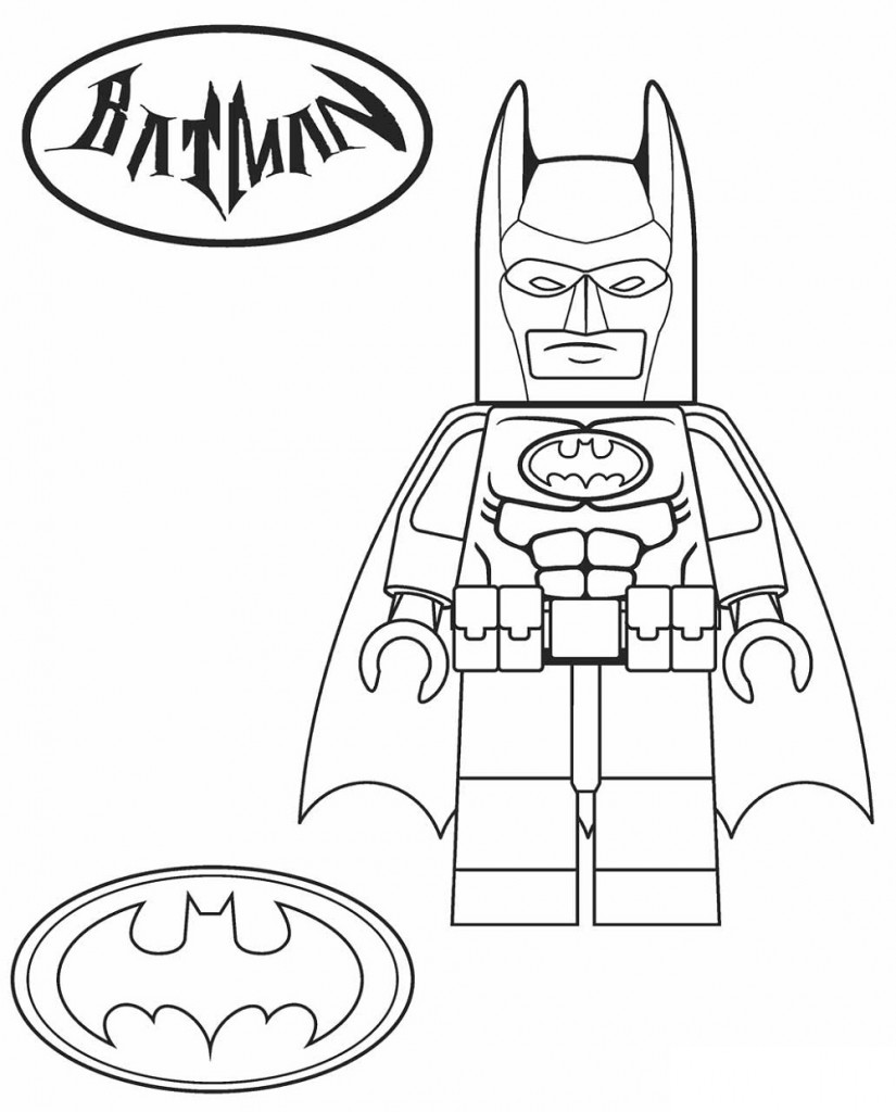 Batman Coloring Pages Lego