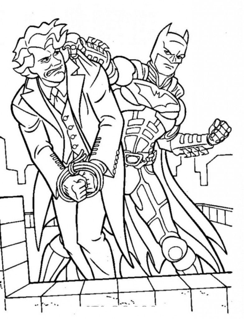 Batman Coloring Pages Superhero