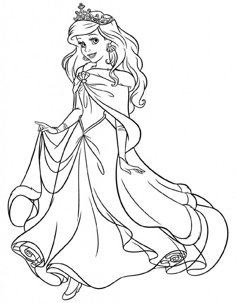 Ariel Coloring Pages for Children | 101 Coloring