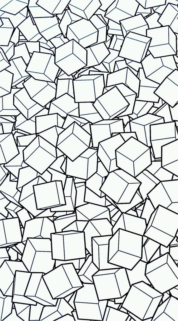 3d Coloring Pages Geometric