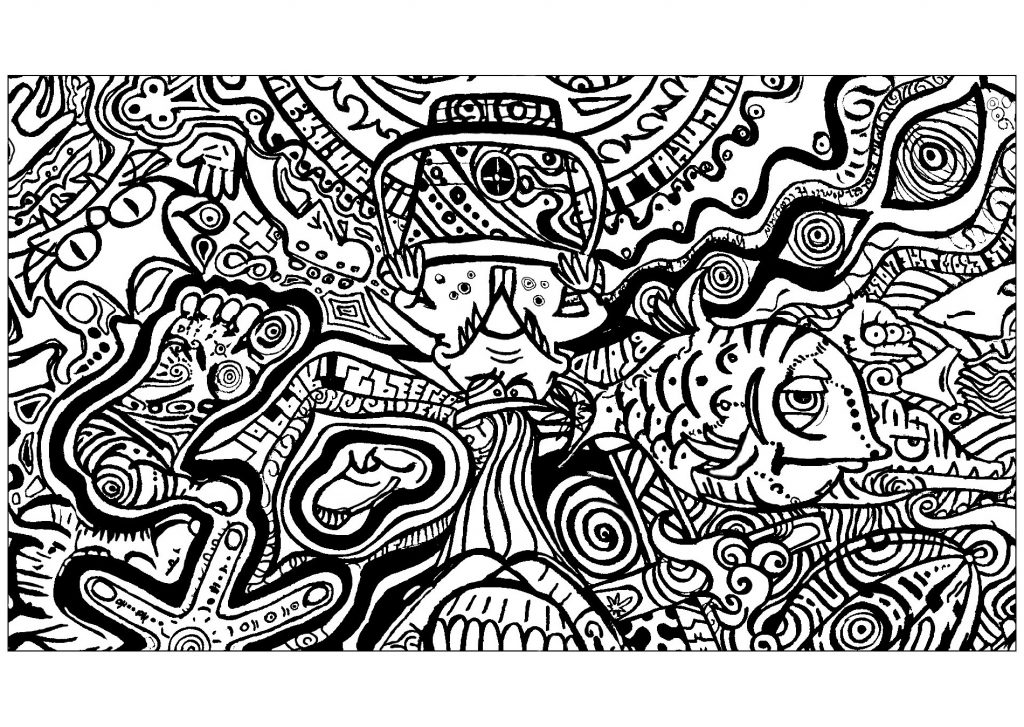 3d Coloring Pages Trippy