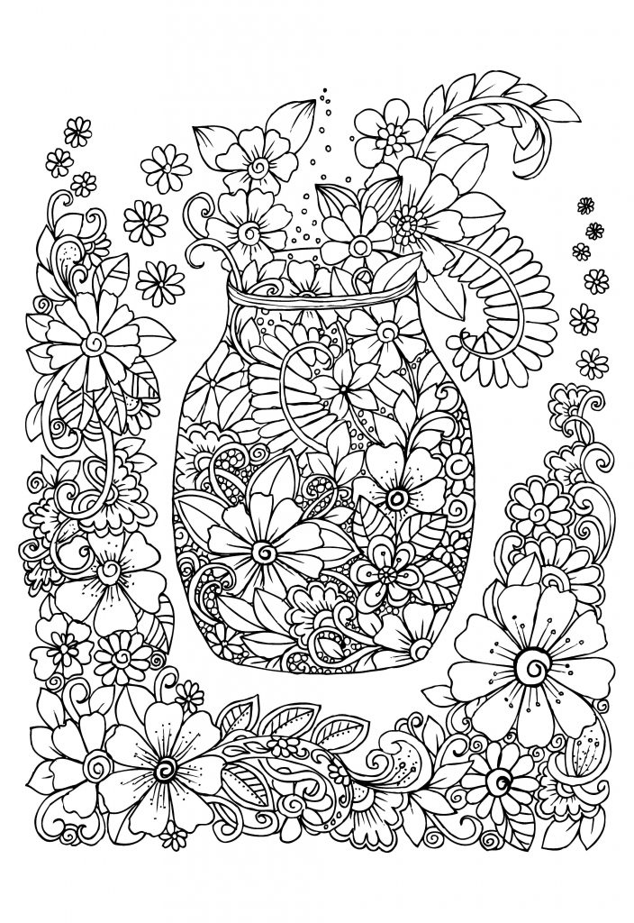 Abstract Coloring Pages Stress Relief