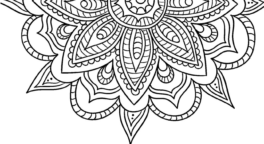 Adult Coloring Pages Simple