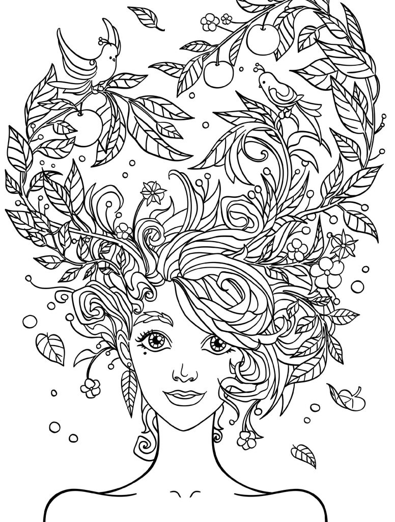 Adult Coloring Sheets Women