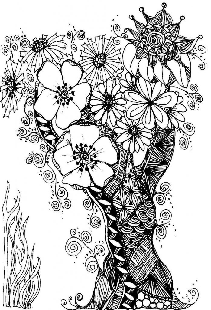 Adult Coloring Sheets Zentangle