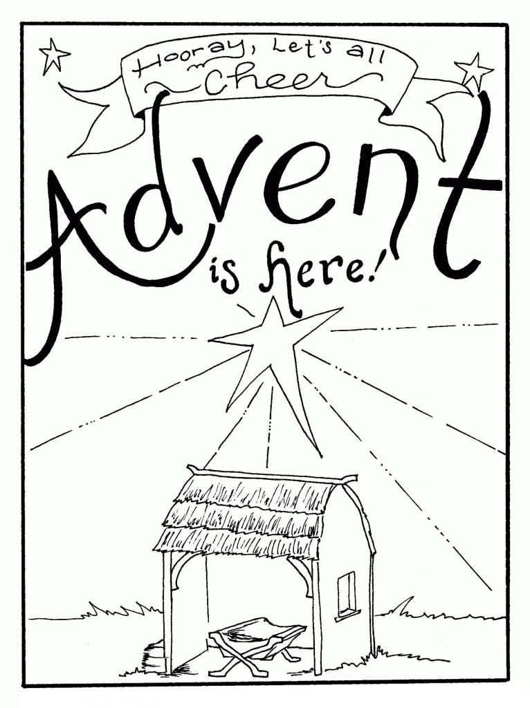 Advent Coloring Pages Free