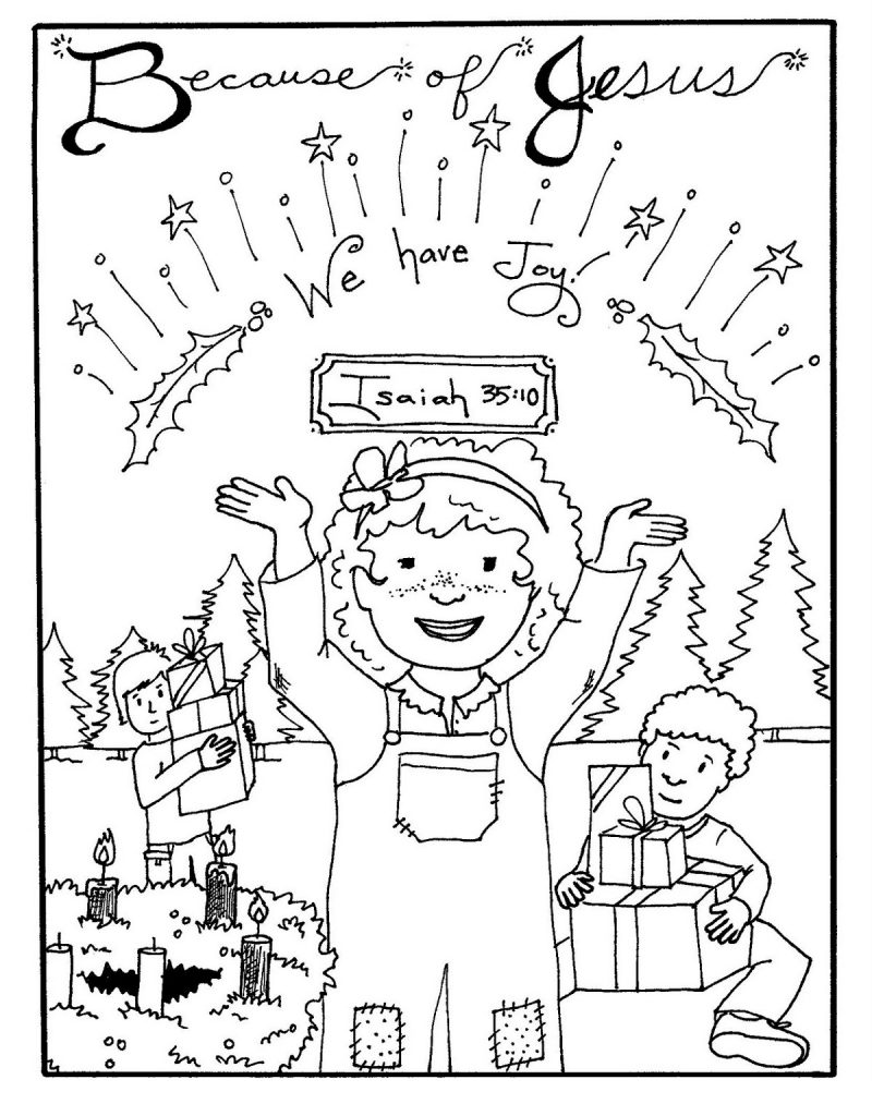 Advent Coloring Pages Joy
