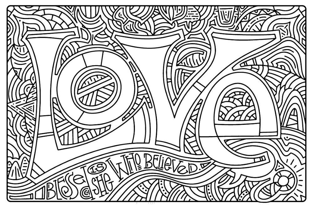 Advent Coloring Pages Love