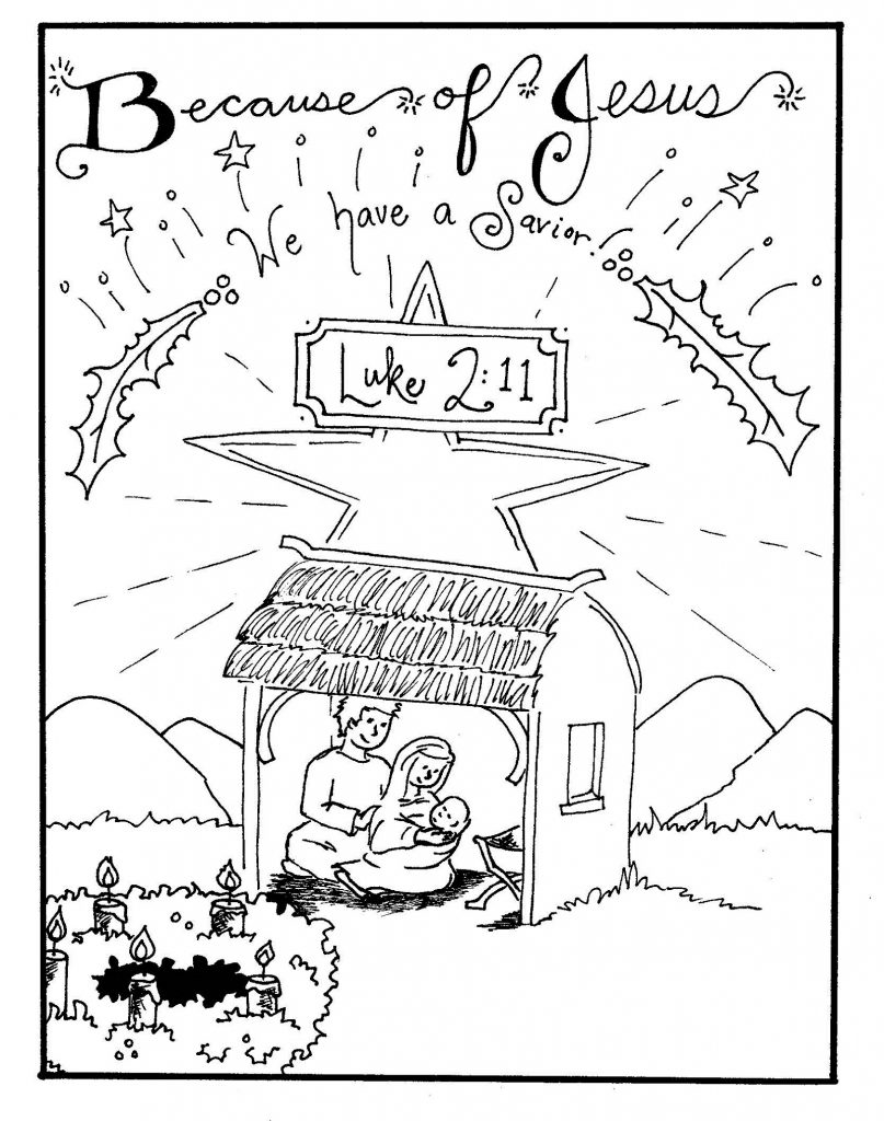 Advent Coloring Pages Nativity