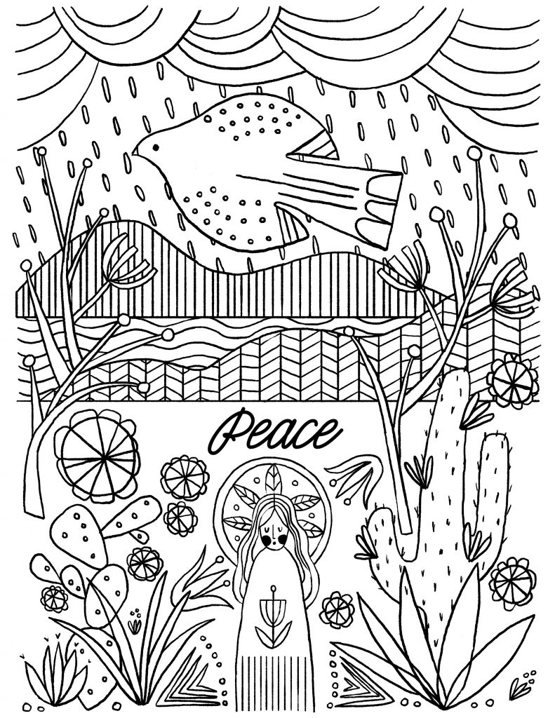Advent Coloring Pages Peace
