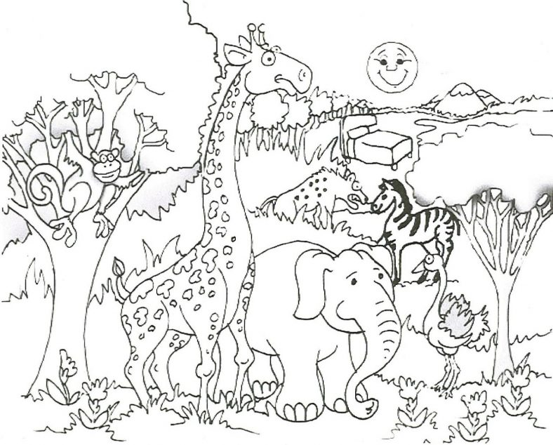 African Animal Coloring Sheets