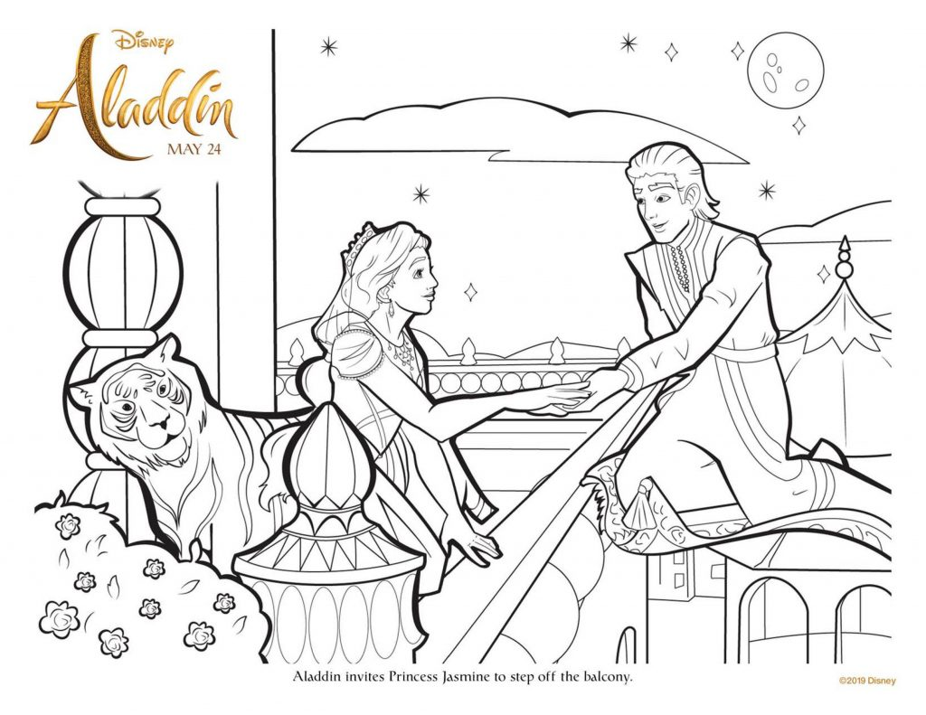 Aladdin Coloring Pages Movies