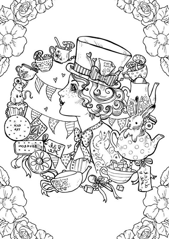 Alice In Wonderland Coloring Pages 101 Coloring