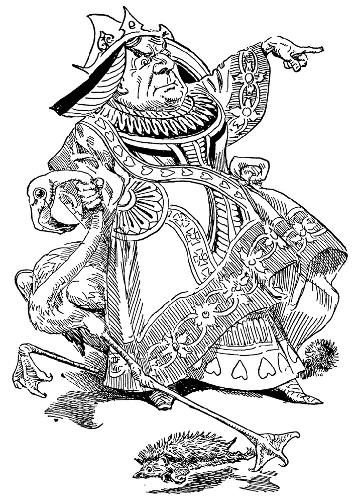 Alice In Wonderland Coloring Pages Red Queen