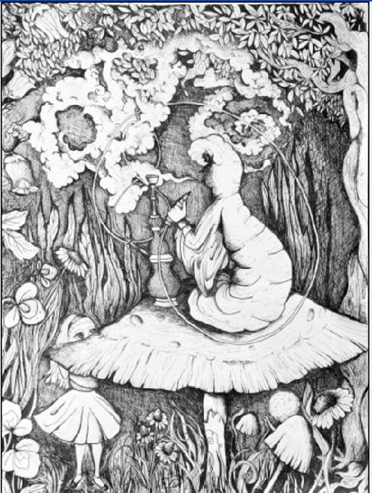 Alice In Wonderland Coloring Pages Trippy