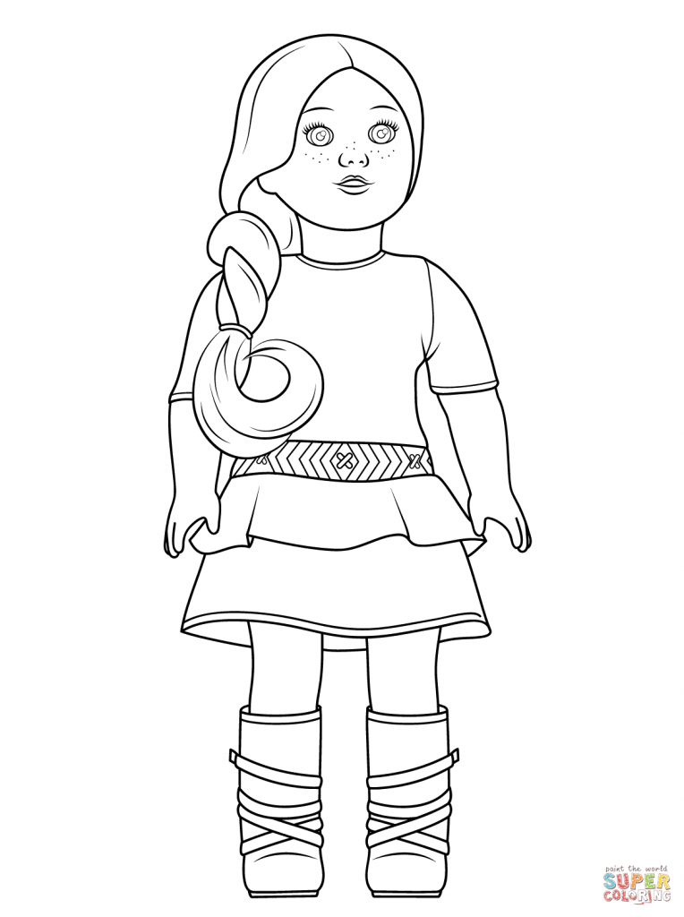 American Girl Doll Coloring Pages Grace
