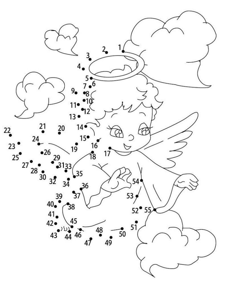 Angel Dot To Dot For Preschoolers