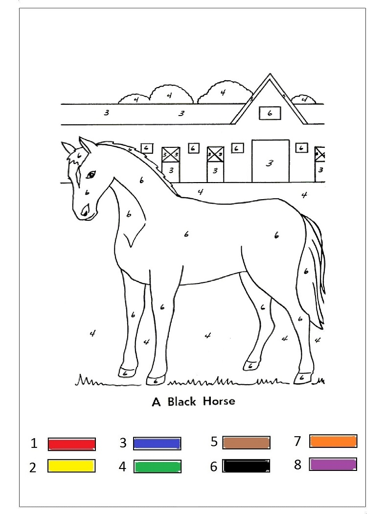 Animal Color By Number Preschool