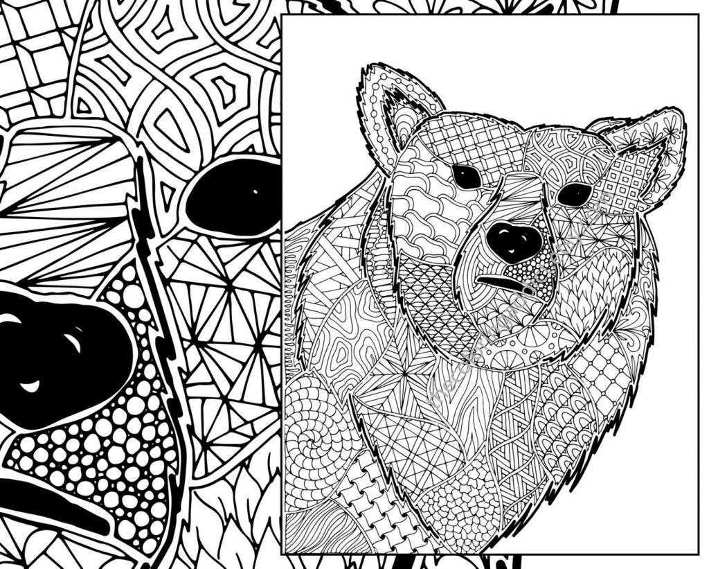 Animal Coloring Sheets Zentangle