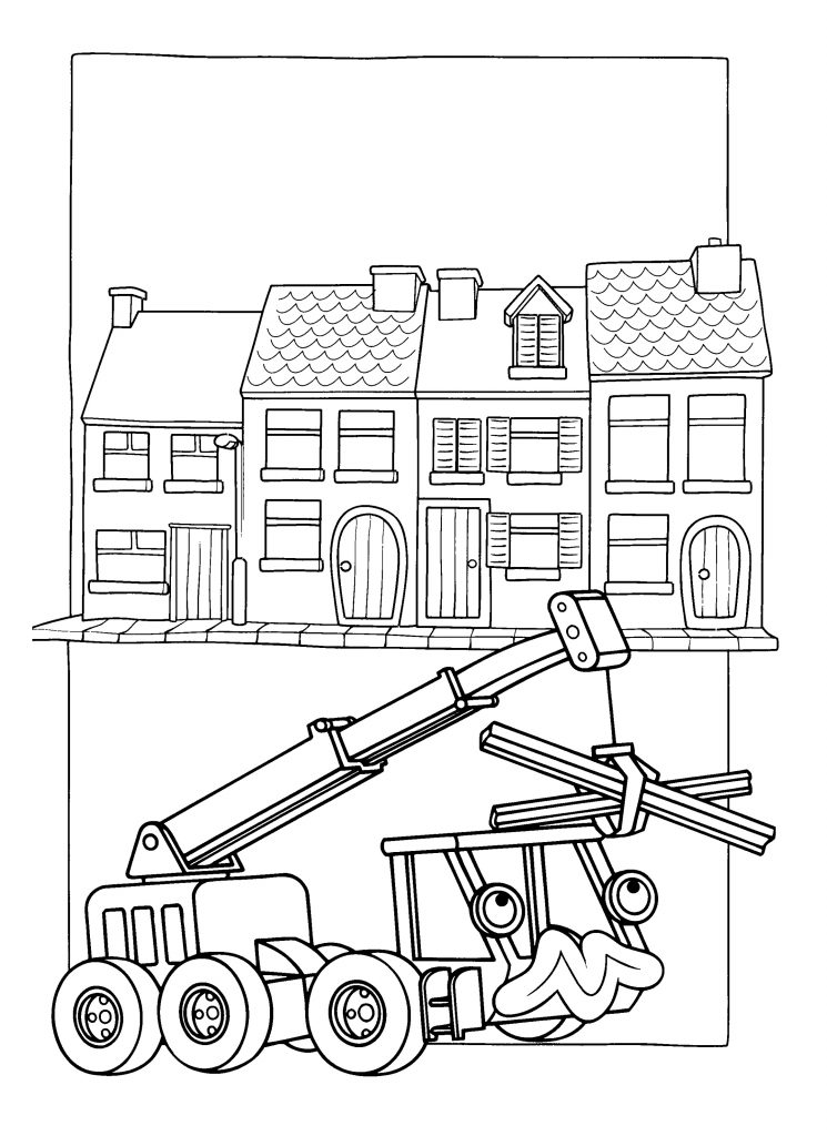 Animated Bob The Builder Coloring Pages