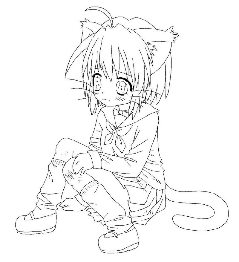 Printable Anime Coloring Pages 101 Coloring