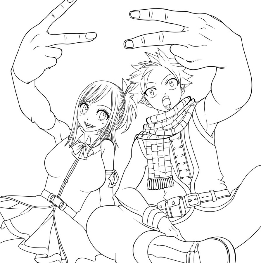 Anime Coloring Pages Couple