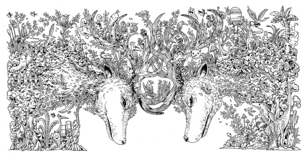 Animorphia Coloring Book Animal