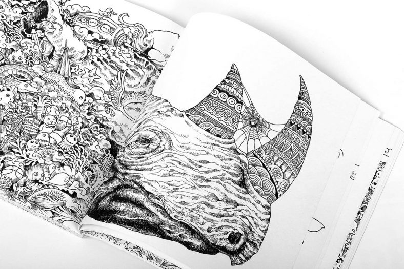 Animorphia Coloring Book Page