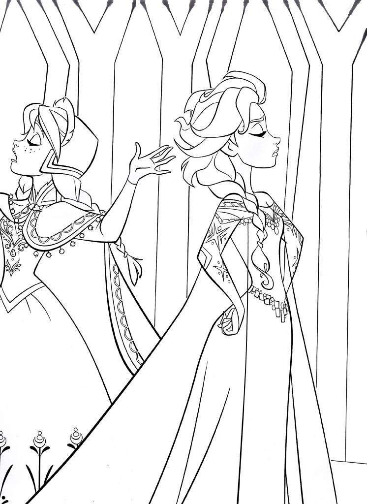 Anna Elsa Coloring Pages