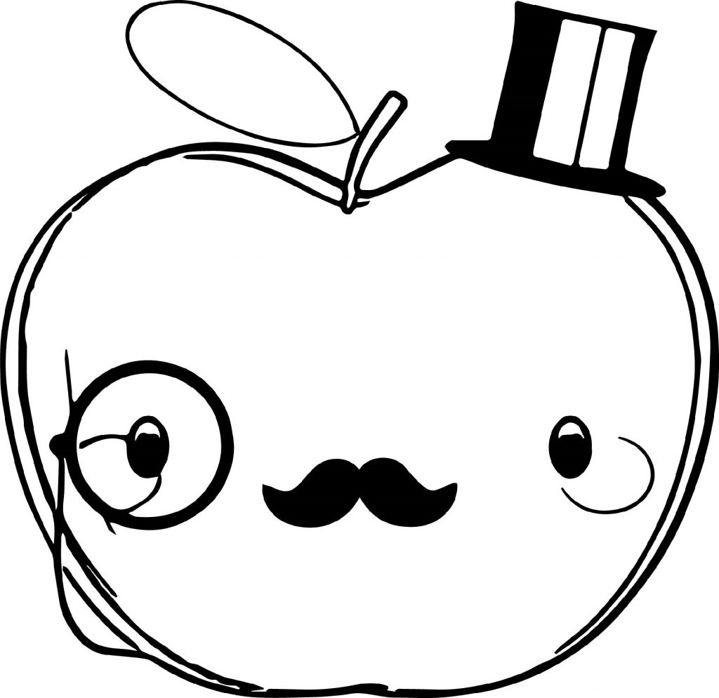 Apple Coloring Pages Cute