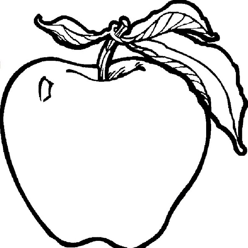 Apple Coloring Pages Fruit
