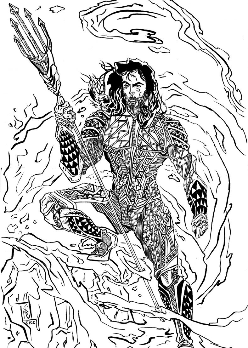 Aquaman Coloring Pages Justice League