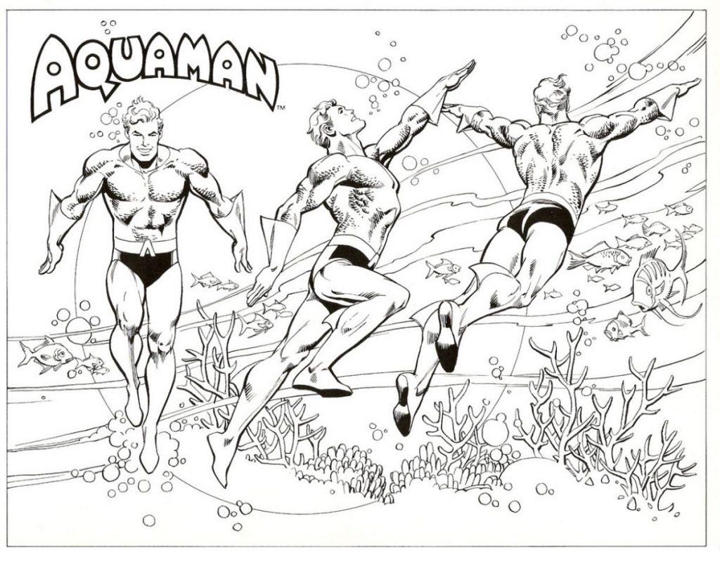 Aquaman Coloring Pages Superhero