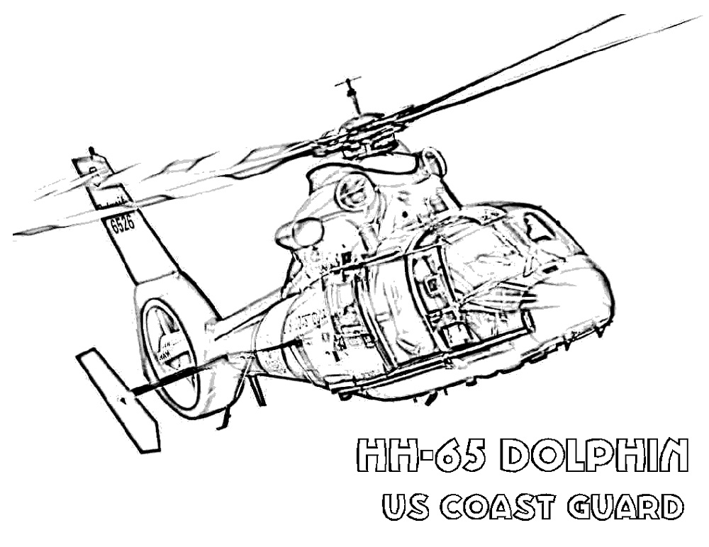 Army Helicopter Coloring Pages