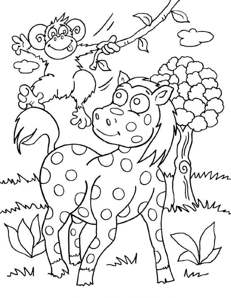 Baby Animal Coloring Pages Safari