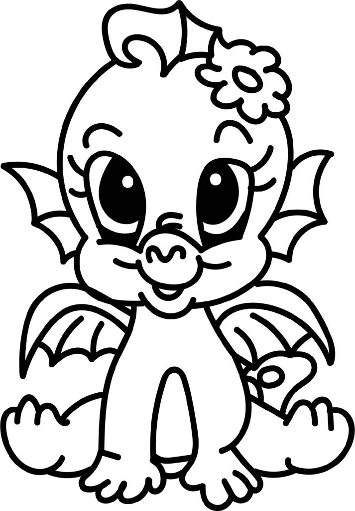 Baby Dragon Coloring Pages Fire