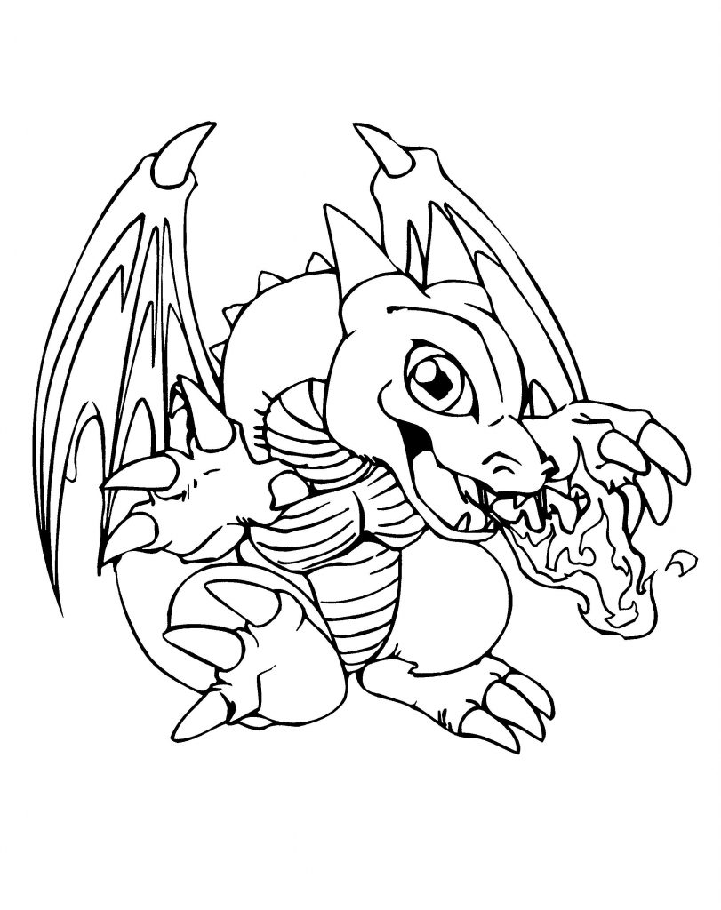 Baby Dragon Coloring Pages Yugioh