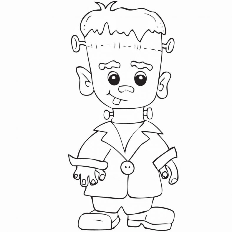 Baby Frankenstein Coloring Pages