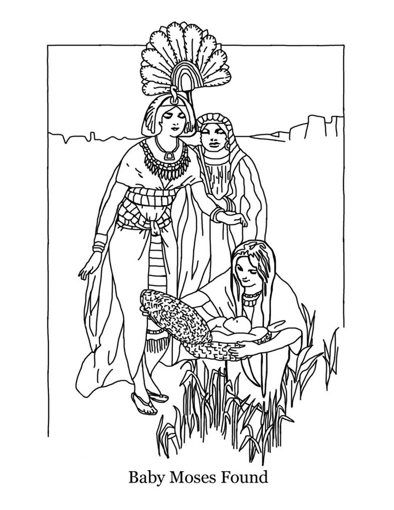 Free And Printable Baby Moses Coloring Pages 101 Coloring