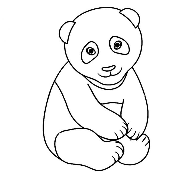 Baby Panda Coloring Pages