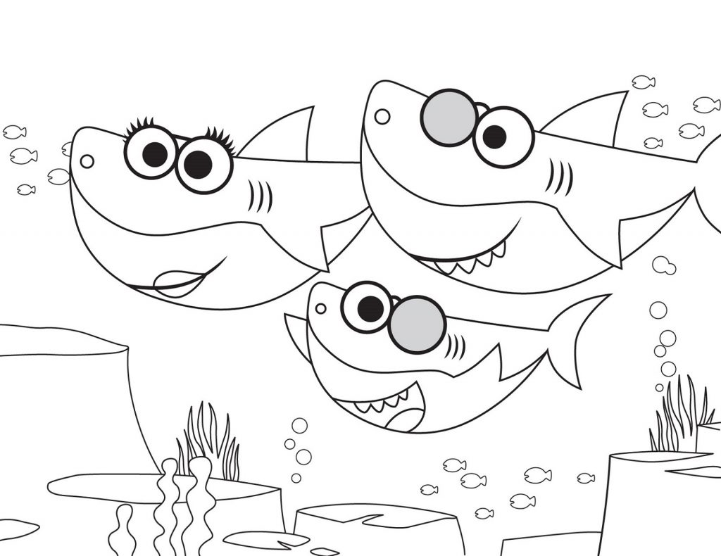 eldernewman56: Coloring Sheet Printable Baby Shark Coloring Pages