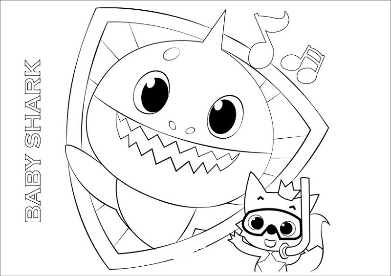 Baby Shark Coloring Pages Free